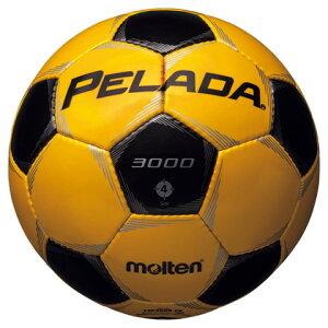 ペレーダ3000メタリックイエロー×メタリックブラック【molten|モルテン】サッカーボール4号球f4p3000-yk