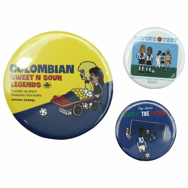 缶バッジ3個セットSoccerJunky サッカージャンキーサッカーフットサルアクセサリーsj184