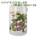 【送料無料】パパイヤパウダーEM(粉末)100g×3個セット 沖縄産100% │パパイヤ酵素│