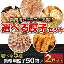 【送料無料】選べる業務用餃子100個セット タレ・赤い友付き