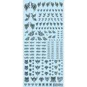 ハイキューパーツ タトゥーデカール01「ハート」タトゥーグレー (1枚入) TTD-01-GRE【新品】 HiQparts プラモデル 改造