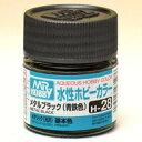 塗料 H-28 メタリックブラック(青鉄色)【新品】 GSIクレオス 水性ホビーカラー 【メール便不可】