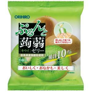 ぷるんと蒟蒻ゼリーパウチ キウイ 120g(20g×6個)