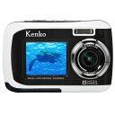 【即配】 KENKO ケンコー 817万画素 デュアルモニター デジタルカメラ DSC880DW ★はがき用紙55枚 & microSDHC4GB付★ 【送料無料】【あす楽対応】 マリンスポーツに!防水仕様デジカメ
