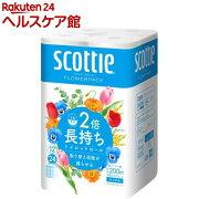 スコッティ フラワーパック 2倍巻き シングル(12ロール)【7_k】【スコッティ(SCOTTIE)】