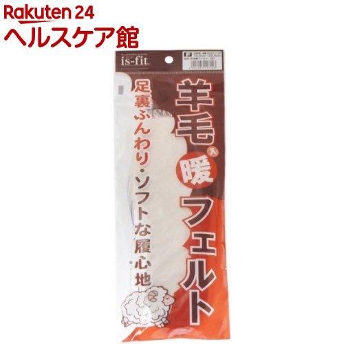 イズフィット 羊毛入り暖フェルト 子供用 16.0-22.0cm 白(1足組)【イズフィット】