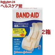 バンドエイド 肌色タイプ 4サイズ(25枚入*2コセット)【バンドエイド(BAND-AID)】