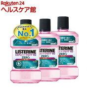 薬用リステリン トータルケア ゼロ 低刺激タイプ(1000mL*3コセット)【LISTERINE(リステリン)】