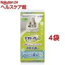 デオトイレ ふんわり香る消臭・抗菌シート ナチュラルガーデンの香り(10枚入*4袋セット)【デオトイレ】