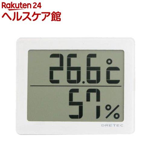 ドリテック デジタル温湿度計 アクリア ホワイト O-226WT(1セット)【ドリテック(dretec)】