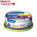 バーベイタム CD-R 1回記録データ用 700MB 48倍速 SR80FP25V1(25枚入)【バーベイタム】