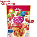 ケロッグ フルーツグラノラ 朝摘みいちご(600g*6コセット)【kzx】