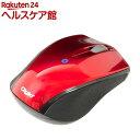 BLuetooth 3ボタン小型ブルーLEDマウス レッド MUS-BKT99R(1コ入)【送料無料】