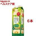サントリー 酸化防止剤無添加のおいしいワイン 白 紙パック(1800ml*6本セット)【酸化防止剤無添加のおいしいワイン。】