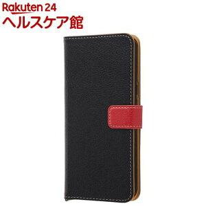 GaLaxy S8+ 手帳型ケース 2トーンカラー ブラック/レ