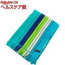 林 ポルト ストライプ&チェック バスタオル ブルー BE700201(1枚入)