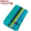 林 ポルト ストライプ&チェック ウォッシュタオル ブルー WE700201(1枚入)