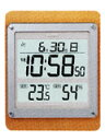 カシオ 電波壁掛け時計 温湿度計付ID-28J-7JF