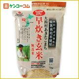 绪方村Akitakomachi没有立即冲洗糙米饭公斤[大潟村あきたこまち 早炊き玄米無洗米 1kg[【HLSDU】玄米]]
