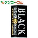 サントリー BOSS(ボス) 無糖ブラック 185g×30本[BOSS(ボス) コーヒー]【送料無料】
