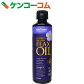 メルローズ 有機 亜麻仁油(アマニ油) 229g[ケンコーコム 亜麻仁油(フラックスオイル)]【送料無料】
