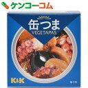 K&K 缶つまVEGETAPAS タコとマッシュとオリーブのアーリオオーリオ 75g