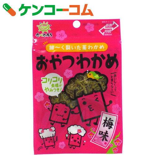 前島食品 おやつわかめ 梅味 8g×10袋[前島食品 茎わかめ・海藻菓子]...:kenkocom:11388989