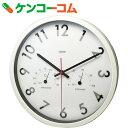 クレセル 電波時計・温度計・湿度計 壁掛け用 TC-051[クレセル 温湿度計 時計付]【送料無料】