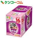 カルカンパウチ ゼリー仕立て 12ヶ月までの子ねこ用 かにかま入りまぐろ 70g×16個[カルカン・ウィスカス 猫缶・レトルト(幼猫・キトン用)]