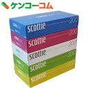 スコッティ ティシュー カラーパッケージBOX 400枚(200組)×5個パック[スコッティ ボックスティッシュ]【7_k】【rank】【by05】