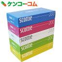 スコッティ ティシュー カラーパッケージBOX 400枚(200組)×5個パック×12パック入[スコッティ ボックスティッシュ]【送料無料】