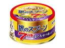 ねこ元気 銀のスプーン缶 7歳以上用 まぐろ・かつおにしらす入り 80g