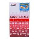 「ラブ フォー オール(LOVE FOR ALL) 12個入り[コンドーム]」レッドリボンキャンペーンの一環として生まれたコンドームです。ラブ フォー オール(LOVE FOR ALL) 12個入り[コンドーム]