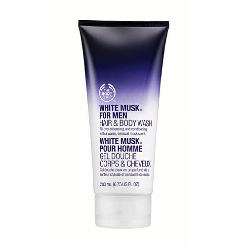 THE BODY SHOP white musk four men hair & bodywash 200mlfs3gm