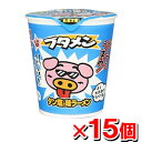 おやつカンパニー ブタメン タン塩味x15個 (カップラーメン カップめん カップ麺 インスタントラーメン インスタント食品 インスタントラーメン)