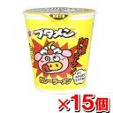 おやつカンパニー ブタメン カレー味x15個 (カップラーメン カップめん カップ麺 インスタントラーメン インスタント食品 インスタントラーメン)