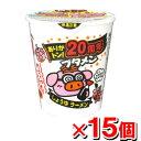 おやつカンパニー ブタメン しょうゆ味x15個 (カップラーメン カップめん カップ麺 インスタントラーメン インスタント食品 インスタントラーメン)