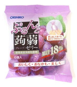 Orihiro 璞和魔芋軟腐病果凍袋新葡萄 20 gx 六 orihiro 蒟果凍魔芋軟腐病果凍