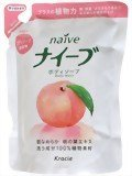 Leaf extract 配合詰替 upup7 of the naive body soap peach