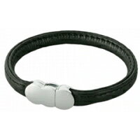 Erg bracelet single leather (product made in real leather) erg bracelet doubleleather black B12108fs3gm
