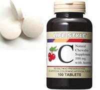 クーポン ライフスタイル アセロラ ビタミン チュアブル タブレット エープライム