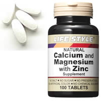 LIFE STYLE (lifestyle) calcium & magnesium & zinc 100 grain pieces (calcium) (magnesium) ( zinc )