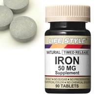 LIFE STYLE (lifestyle) ( iron ) iron 50 mg 90 tablets input (iron) ( IRON )