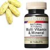 LIFE STYLE(ライフスタイル) マルチビタミン&ミネラル 90粒入[タブレット][エープライム](サプリメント Multi Vitamin & Mineral)[0715124054005] (ライフスタイル マルチビタミン&ミネラル)
