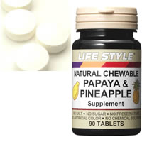 LIFE STYLE (lifestyle) papaya & pineapple extract 90 grain input [Tablet] enzyme /PAPAYA/PINEAPPLE (Supplement) (still in time for mother's day gift gifts health)
