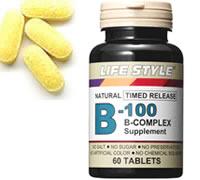 LIFESTYLEビタミンB-100コンプレックス60タブレット
