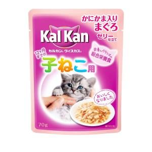 ★訳あり在庫処分! マースジャパン カルカン Kal Kan ウィスカス 12ヶ月までの子ねこ用 味わいセレクト かにかま入りまぐろ 70gパウチ