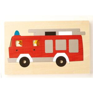 2重パズル・パズル・消防車(GL8161)【ジトレ/GITRE