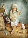 天使 妖精 絵画 リトルミスマフェット(マフェットお嬢さん 〜マザーグースより〜) グリーティング メッセージ カード フェアリー エンジェル フォトグラフ アート ヴィクトリア Charlotte Bird シャーロットバード イギリス 英国 メッセージカード