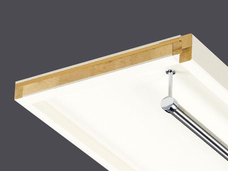 枕棚 Cシリーズ パイプ付 MC-SLW6-HP-A シェルホワイト 枕収納パーツ 南海プライウッド株式会社 框 棚板 分離型 棚板 片面化粧